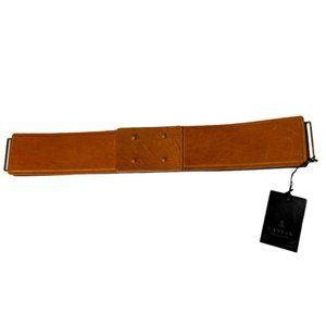 NWT Lanvin wide leather tan belt